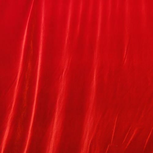 Red stretch velvet